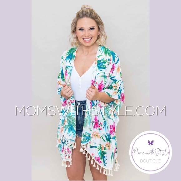 4db5da2ae3fd4 lovovoda Swim   Nwt Womens Floral Beach Kimono Coverup Top   Poshmark